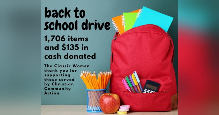 Back to School Drive Successful