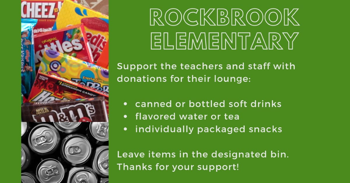 donations for Rockbrook Elementary