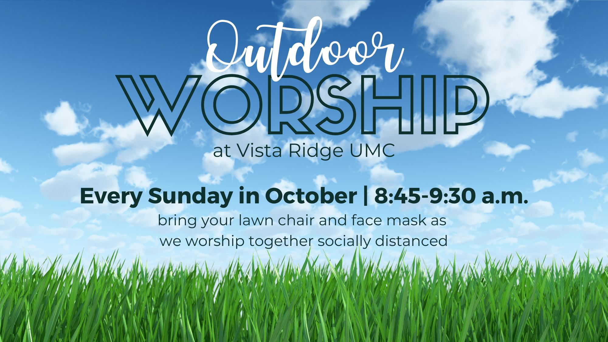 Outdoor Worship October 2020
