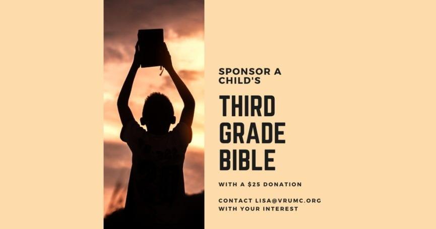Sponsor 3rd-grade Bibles