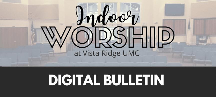 Indoor Worship Digital Bulletin
