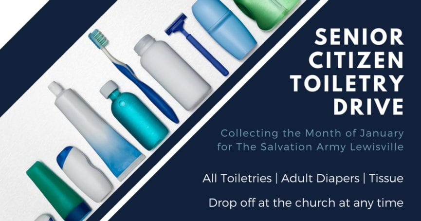 senior citizen toiletry drive