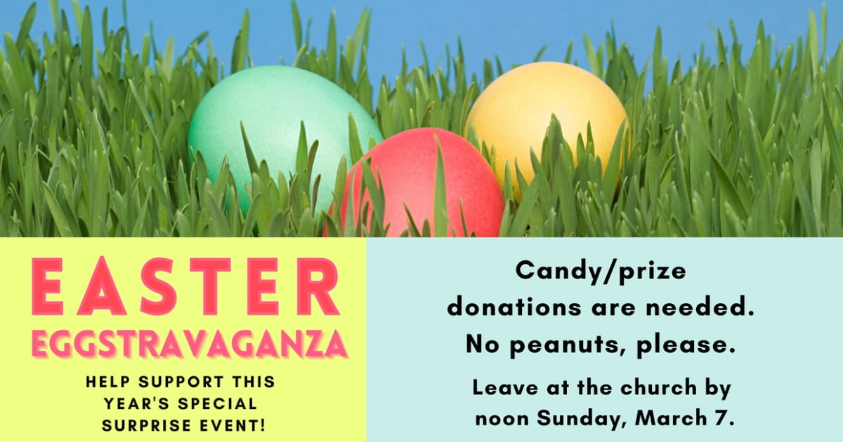 Easter Eggstravaganza donations needed