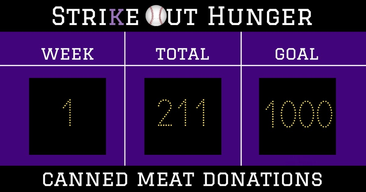 Strike Out Hunger Week 1 211 cans
