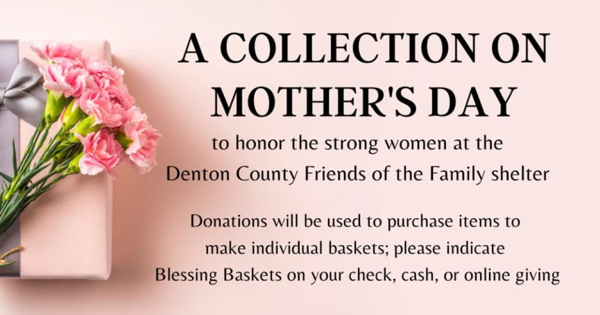 Collection for Denton County Friends of the Family Shelter