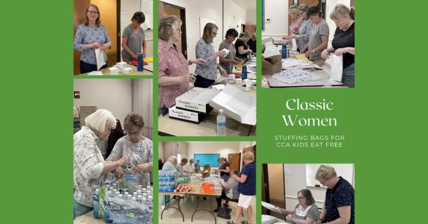 Classic Women Make Bags for CCA Kids Eat Free