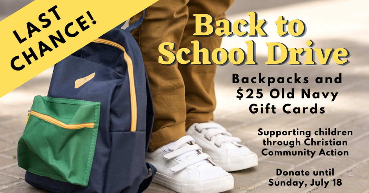 Back-to-School Drive for CCA Angels Last Chance
